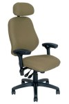 BodyBilt High-Back Chair with Neckroll - Flat Seat