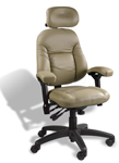 BodyBilt Petite Executive Back Chair with Minimal Contour Seat